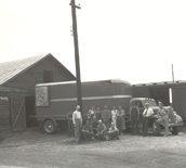 Joe Nunn with Smith and Smith shed 1937