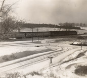 RR crossing in snow