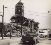 Town scene destruction 1966